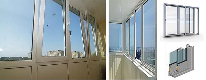 пластиковое или алюминиевое остекления балкона