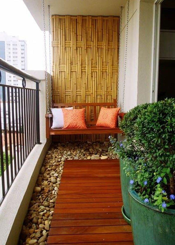 декор открытого балкона