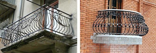 формы кованых балконов