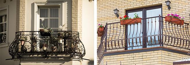 обустройство кованого балкона