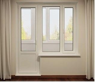 одностворчатые балконные двери