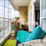 Фото 2 Идеи дизайна лоджии и балкона с панорамным остеклением