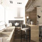 фото 1 объединение кухни и балкона