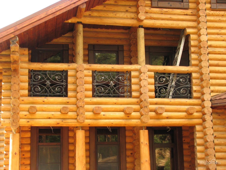 балкон в русском стиле