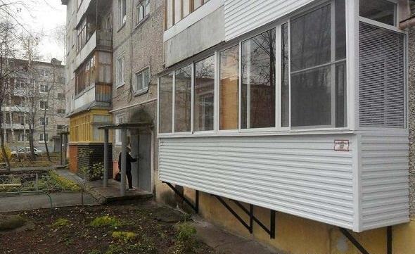 отделка балкона с внешней стороны