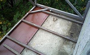 Вынос балкона по основанию