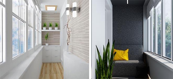балкон в стиле минимализм
