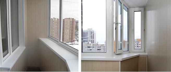 остекление балкона п44
