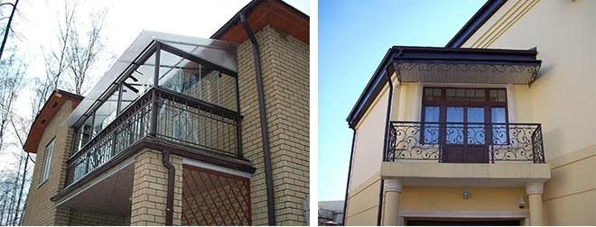 балконы в частных домах