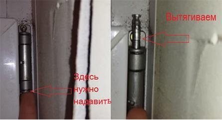 Снятие дверей с петель