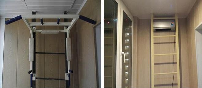 отделка балкона с пожарной лестницей