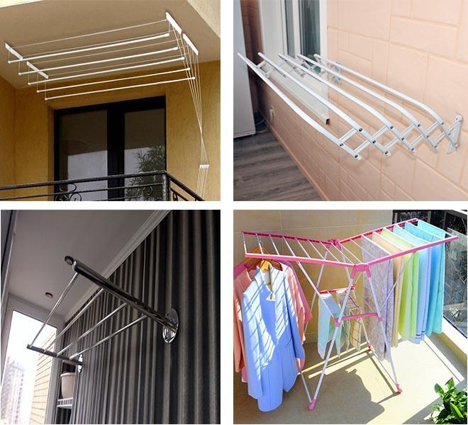 разновидности балконных сушилок