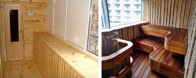 парилка на балконе