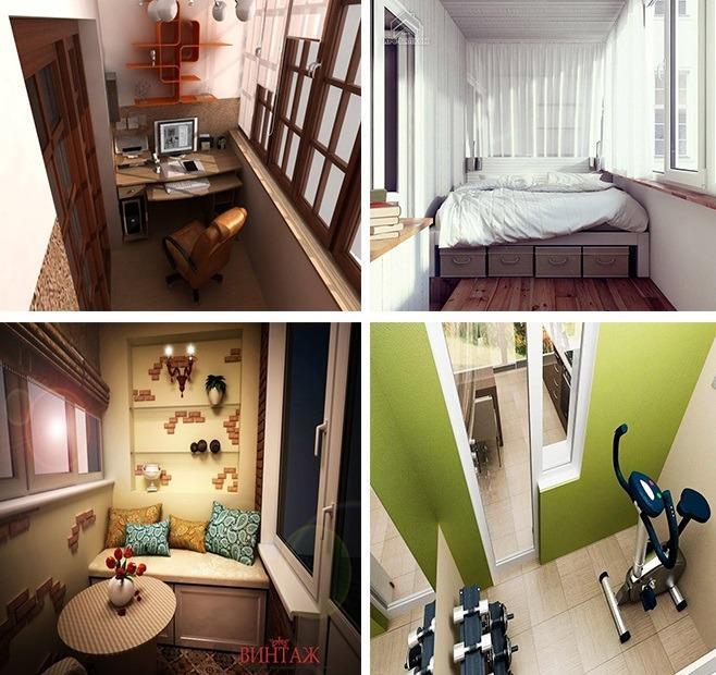 варианты использования балкона