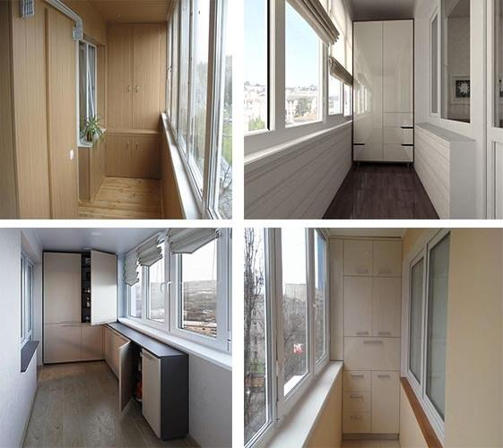 дизайн шкафа для балкона
