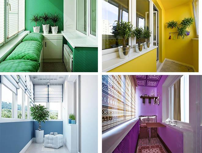 цветовая палитра на балконе