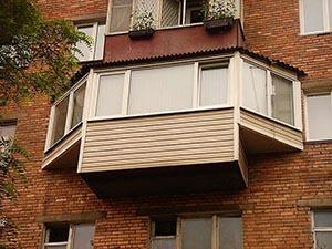 Вынос балкона по типу «бабочка»