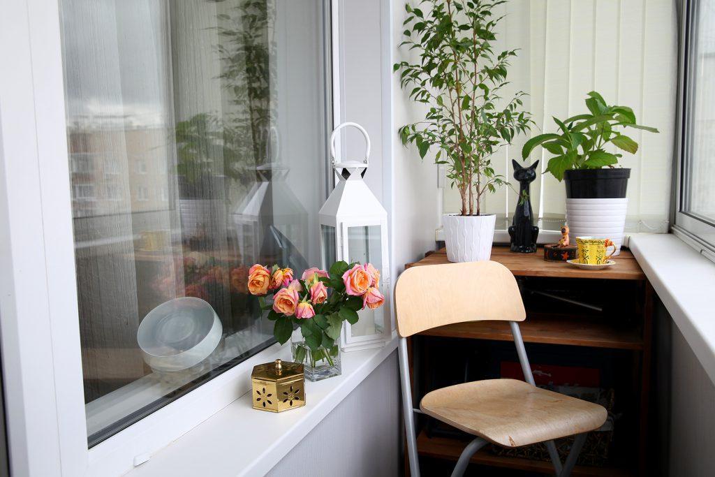 Вариант дизайна маленького балкона