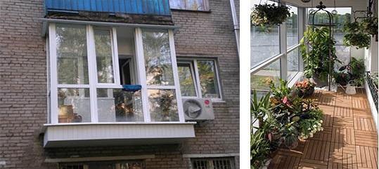 рамное остекление балкона