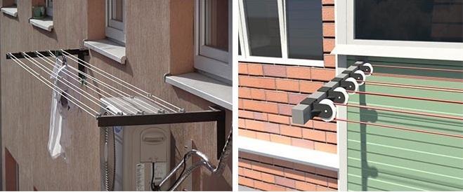 наружные сушилки для балкона