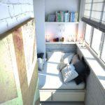 Фото 2 диван на балкон – критерии выбора и инструкция по самостоятельному изготовлению