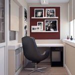 Фото 3 обустройство кабинета на балконе или лоджии