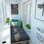 спальня на узком балконе