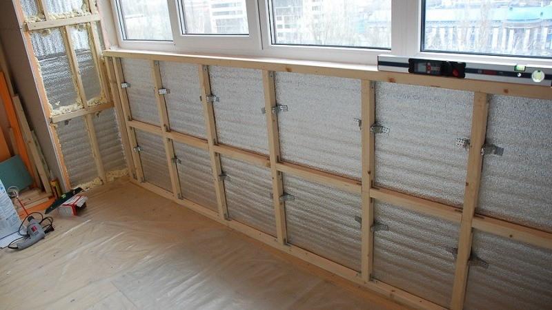 Утепление стен балкона или лоджии своими руками – пошаговые инструкции с фото и описанием