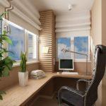Фото 4 обустройство кабинета на балконе или лоджии