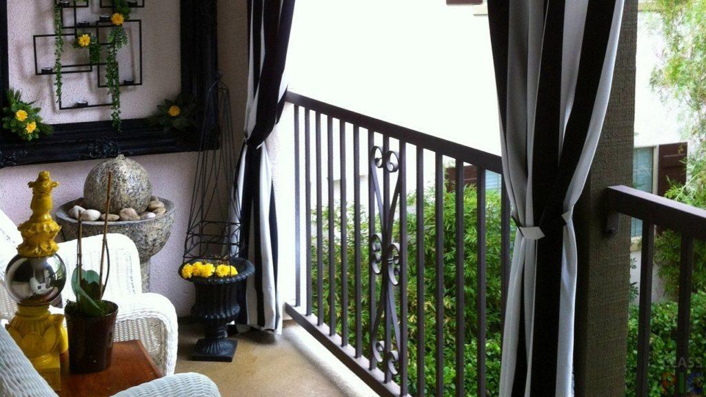 дизайн открытого балкона