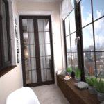 фото 1 балкон в стиле хай тек