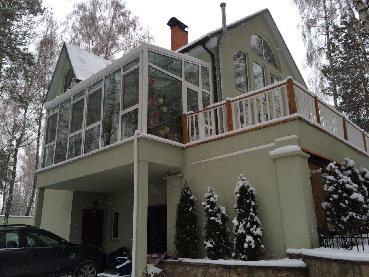 закрытый балкон в частном доме