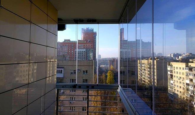 вид из панорамного балкона