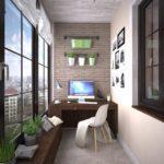 Фото 28 обустройство кабинета на балконе или лоджии