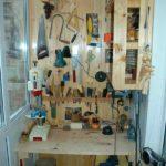 расположение инструментов в мастерской на балконе