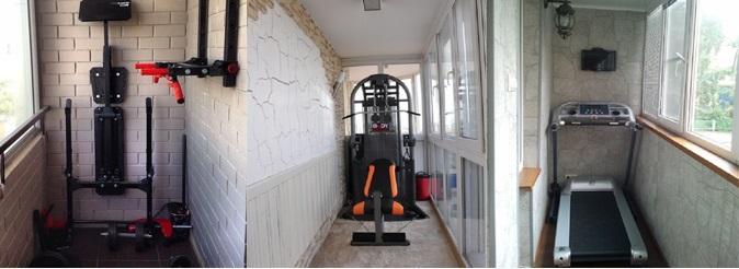 спортзал на балконе