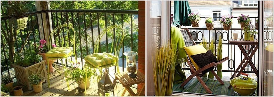 средиземный стиль на балконе