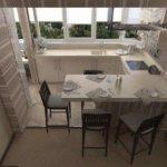 фото 2 объединение кухни и балкона