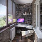 Фото 9 обустройство кабинета на балконе или лоджии