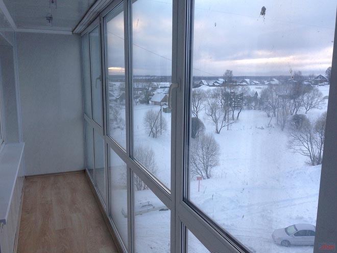 зимнее остекление балкона