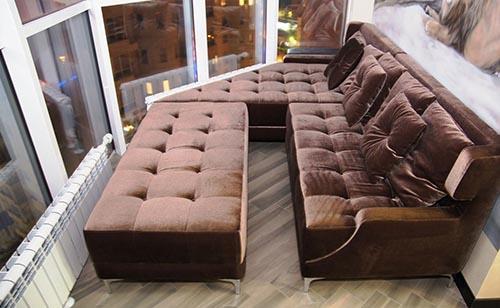 большой диван для террасы