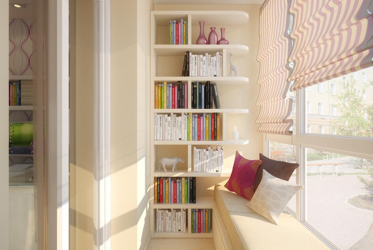 библиотека на балконе