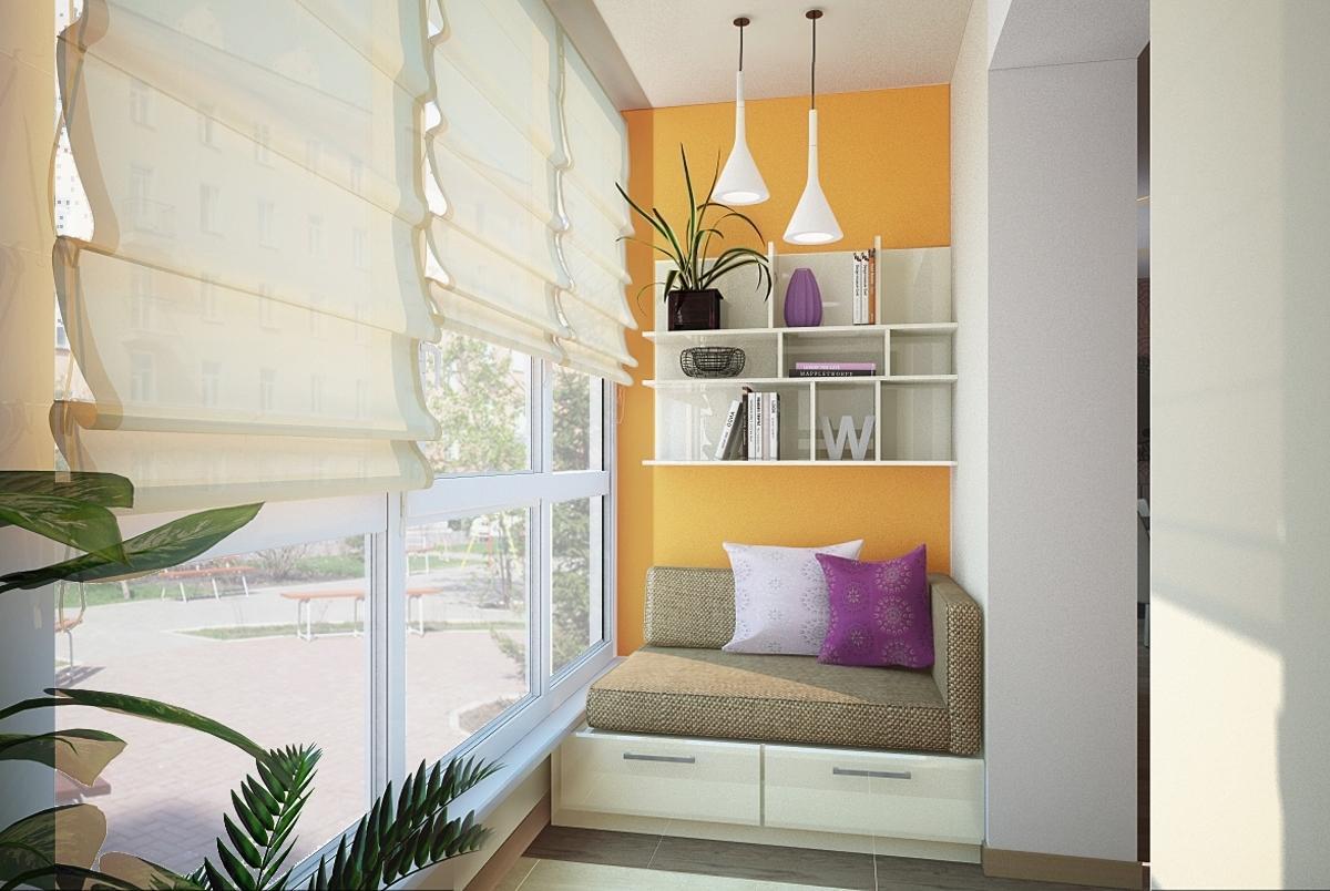 мебель в дизайне балкона