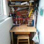 Фото 7 пошаговое обустройство мастерской на балконе или лоджии