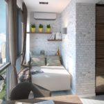 Фото 8 обустройство спального места на балконе или лоджии
