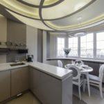 фото 3 объединение кухни и балкона