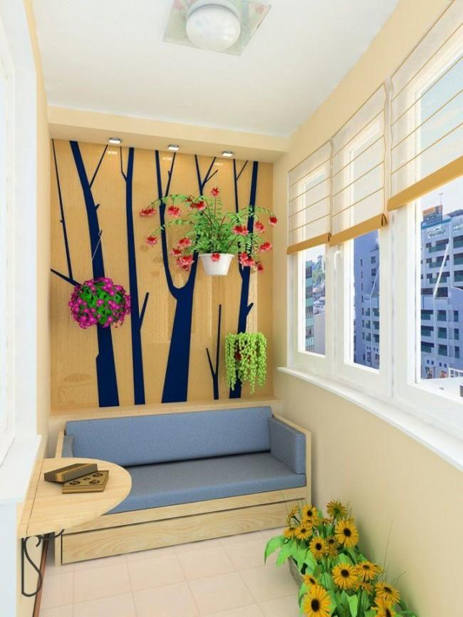 Аппликация на балконе