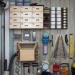 расположение полочек на балконной мастерской