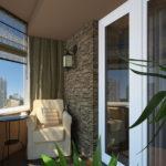 Фото 23 Идеи дизайна лоджии и балкона с панорамным остеклением