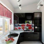 фото 4 объединение кухни и балкона